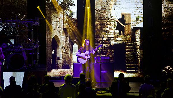 Dream Theater's John Petrucci at Radio City Music Hall, April 23, 2016.