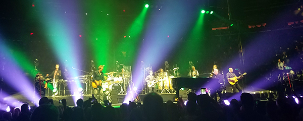David Rosenthal and the band on stage at Madison Square Garden in 2017