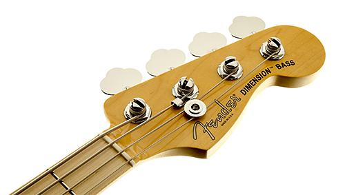 Fender American Standard Dimension Bass IV HH headstock