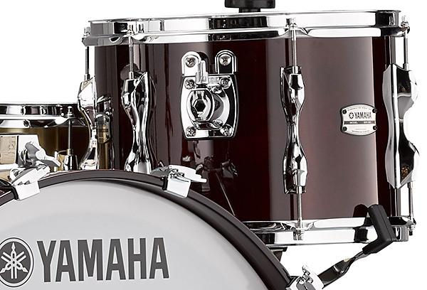 Closeup look at the Yamaha Recording Custom drums