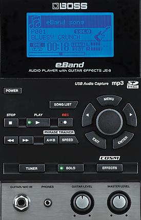 Boss eBand JS-8 Front panel detail