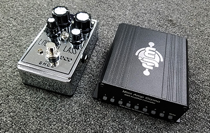 The RJM Mini Amp Gizmo is as small as many pedals.