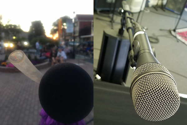 Talkbox with blow tube? Or nice, clean microphone? We know which one we'd pick!