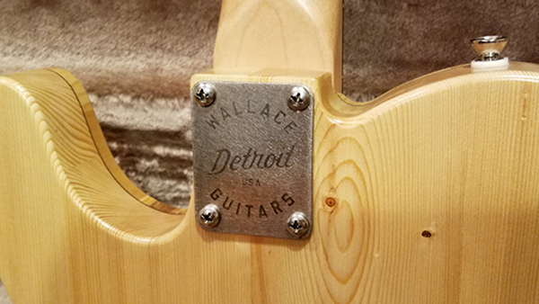 Wallace Detroit Guitars neck heel plate