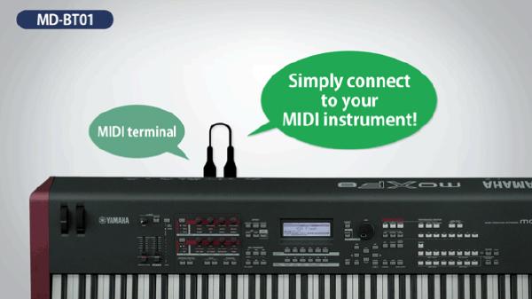 Yamaha MD-BT01 Wireless MIDI Adapter.