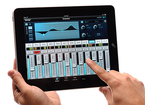 PreSonus StudioLive Remote running on an iPad