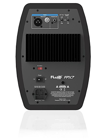 Fluid Audio FPX7 Monitor Speaker rear view