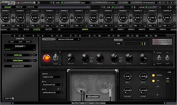 Antelope Orion Studio guitar amp modeling