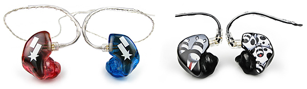 Custom graphics adorn these great sounding IEMs from Ultimate Ears.